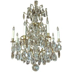 Large Rococo-Style Crystal Chandelier with 16 Lights, Sweden, circa 1890
