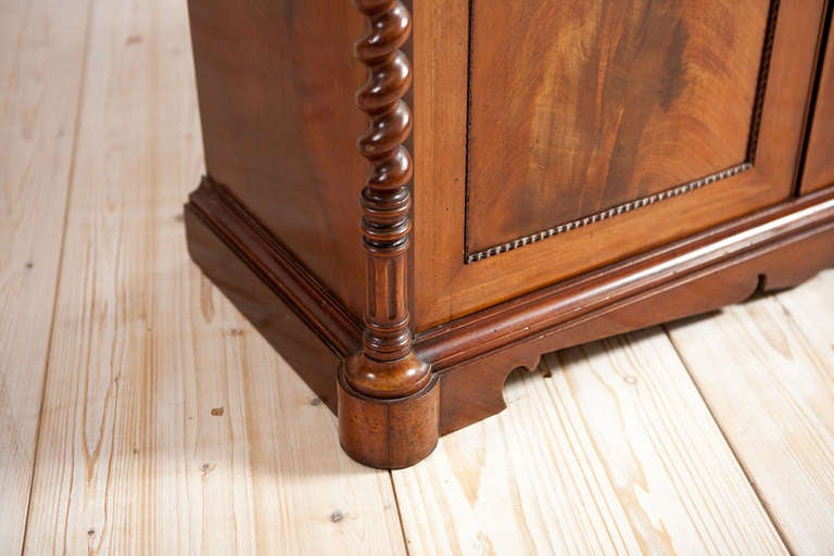 Empire Console w/ Tall Mirror in Cuban Mahogany, Northern Europe, c. 1835 For Sale 1