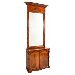 Empire Console w/ Tall Mirror in Cuban Mahogany, Northern Europe, c. 1835