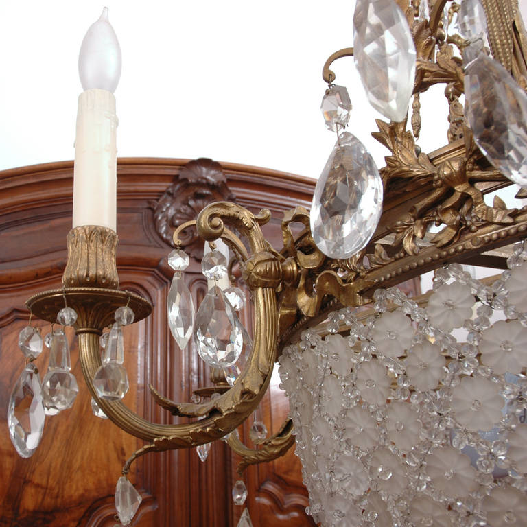 Inspired belle 201 poque leaded cut glass and crystal chandelier image 4