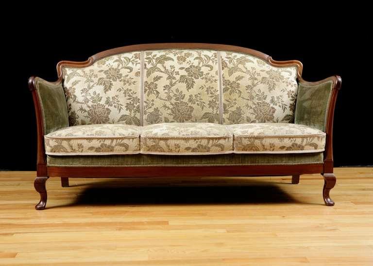 Post Art Deco Upholstered Sofa Frame In Cuban Mahogany Circa 1930 At 1stdibs