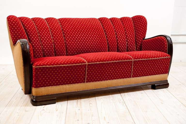 Most Comfortable Couch >> Art Deco Sofa Frame in Mahogany, c. 1830 at 1stdibs