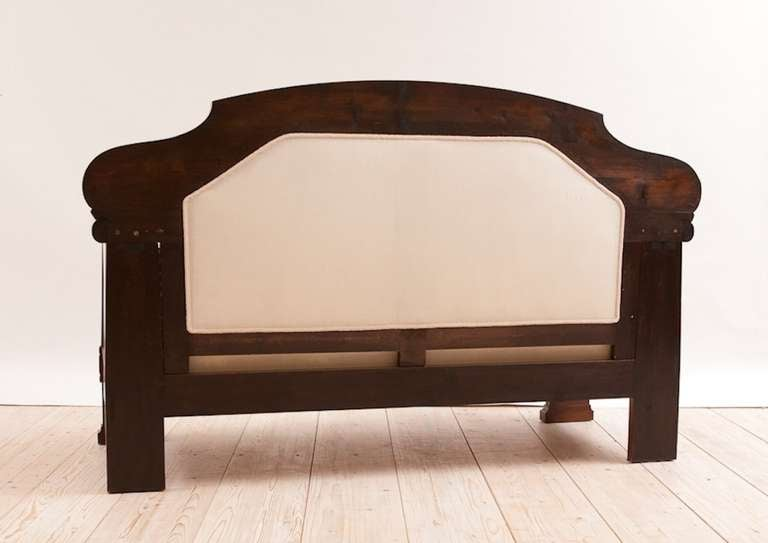 Art Deco Sofa with French Polished Mahogany Frame, Denmark, circa 1920 For Sale 2