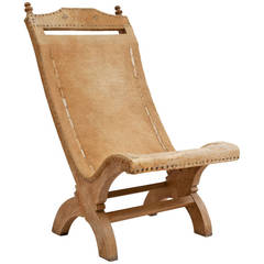 American Cow Hide Chair, 20th Century