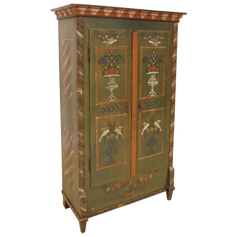Painted Armoire France C 1800 At 1stdibs