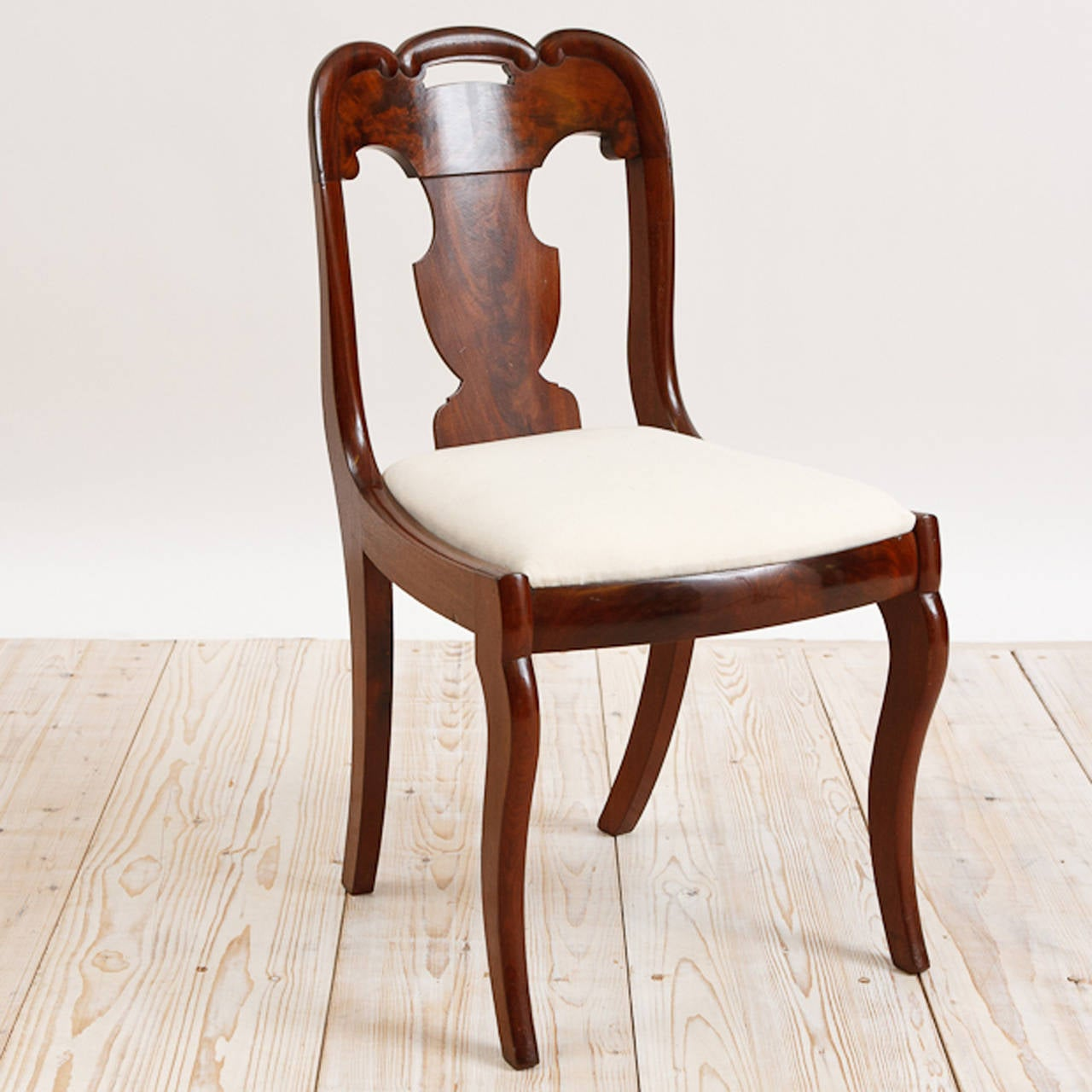 Set Of Six American Empire Dining Chairs, Circa 1830 3