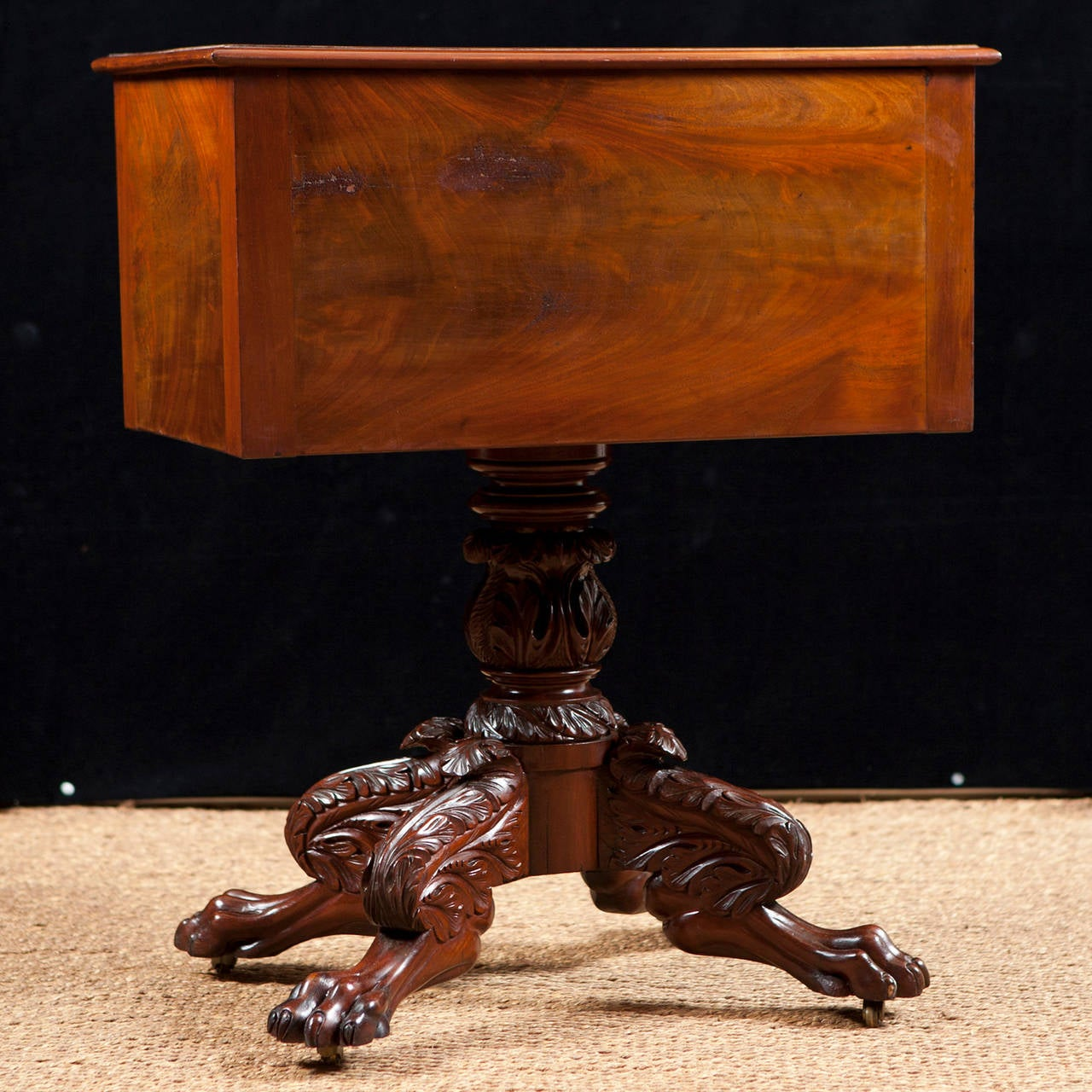 American Empire Work Table In Mahogany, Circa 1825 For