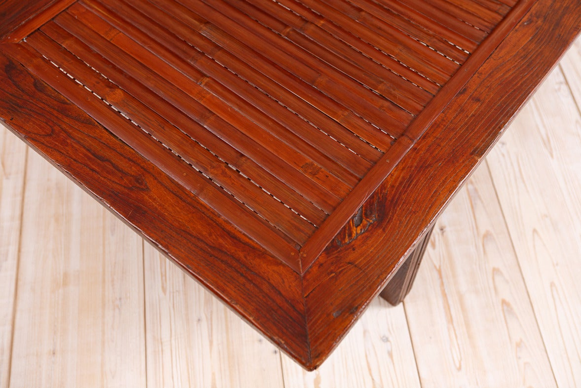 Qing Chinese Bamboo & Elm Coffee Table/ Daybed, circa 1850 In Good Condition For Sale In Miami, FL