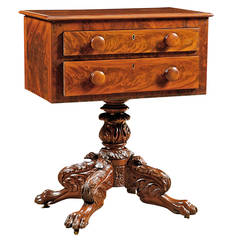 American Empire Work Table in Mahogany, circa 1825