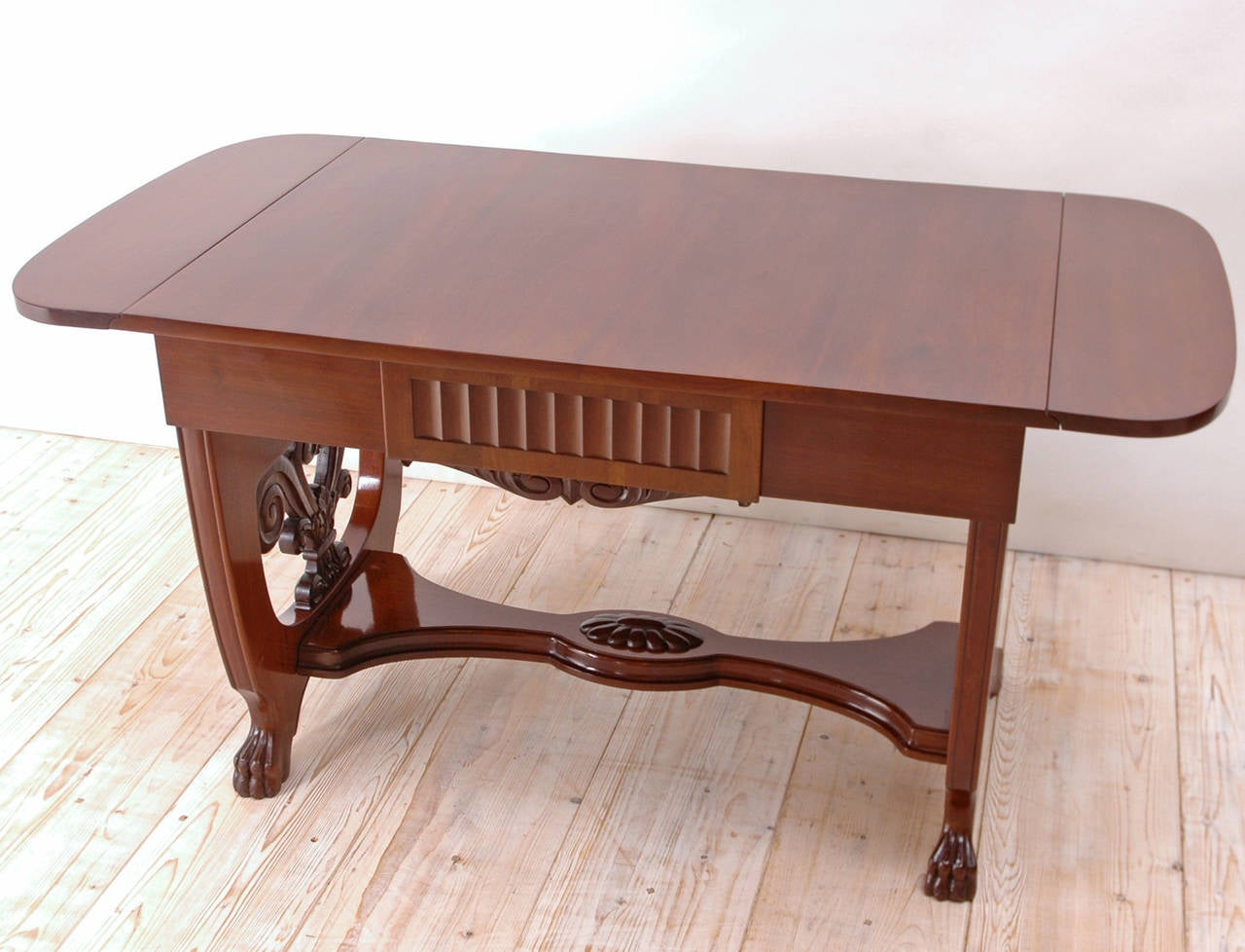 Baltic Empire Style Sofa or Writing Table, circa 1910 in Mahogany In Good Condition For Sale In Miami, FL