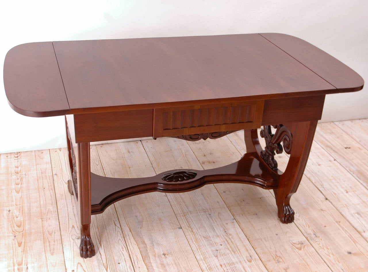Baltic Empire Style Sofa or Writing Table, circa 1910 in Mahogany For Sale 1
