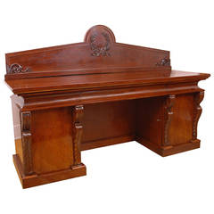 French Charles X Sideboard in Mahogany, circa 1830