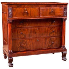 Philadelphia Federal Chest of Drawers in Mahogany, American, circa 1815