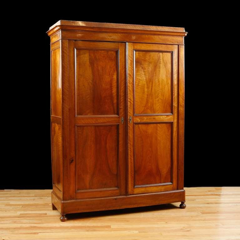 19th century french napoleon iii armoire in book matched. Black Bedroom Furniture Sets. Home Design Ideas
