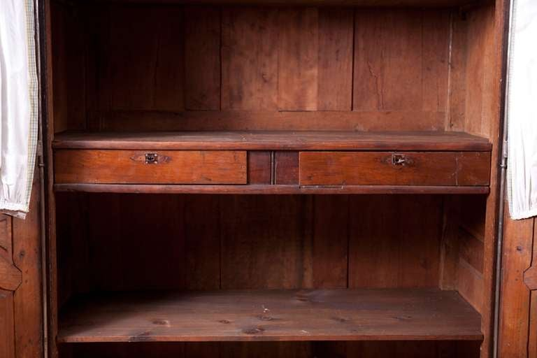 18th Century and Earlier Period French Louis XV Walnut Armoire, Mid-1700s For Sale
