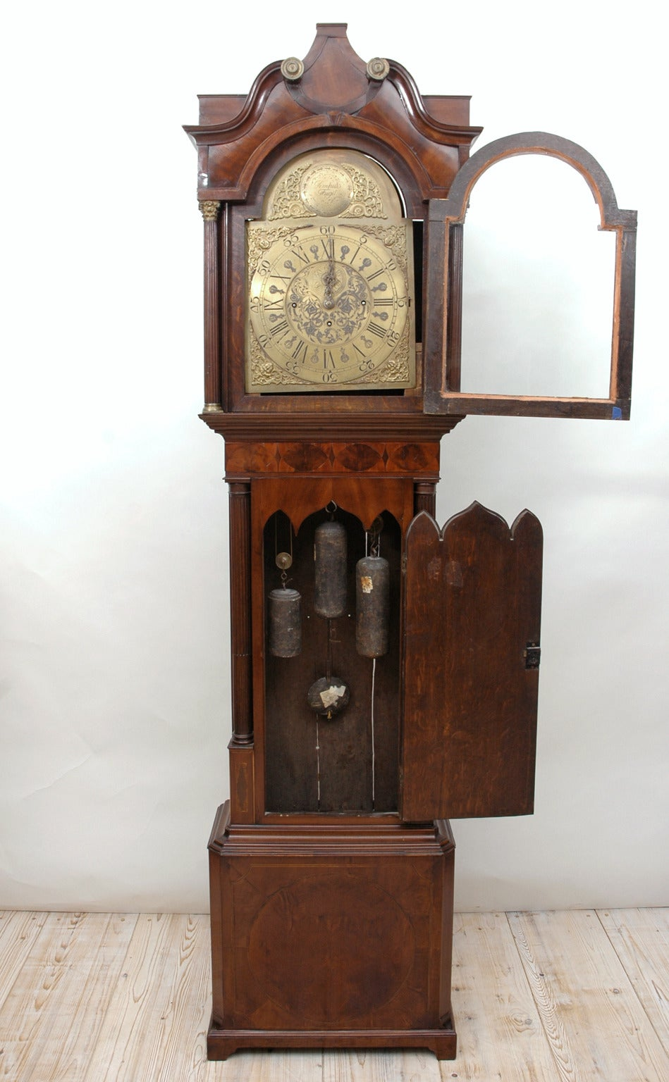 Georgian Pagoda Clock With Jacob Lovelace Movement Circa