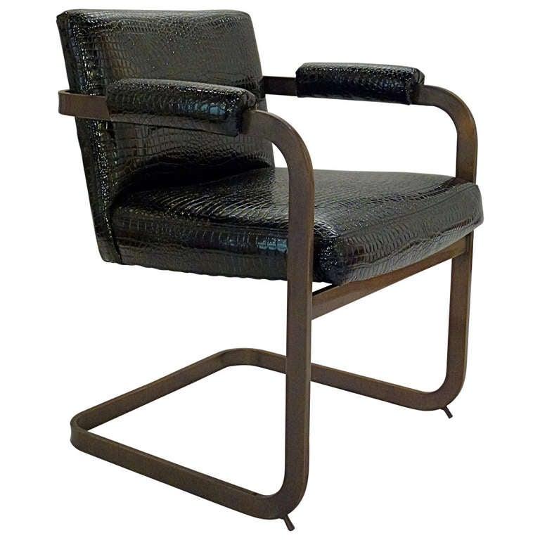 Milo Baughman Cantilever Arm Chair At 1stdibs