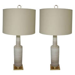 Pair Of Laurel Brutalist Table Lamps At 1stdibs