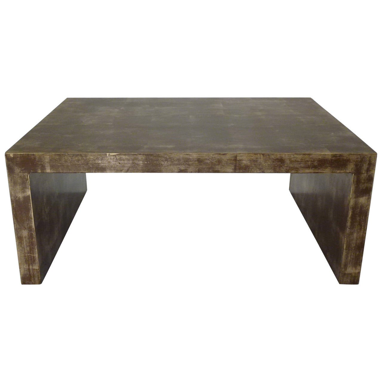 Billy Baldwin Gold Leaf Waterfall Low Table At 1stdibs