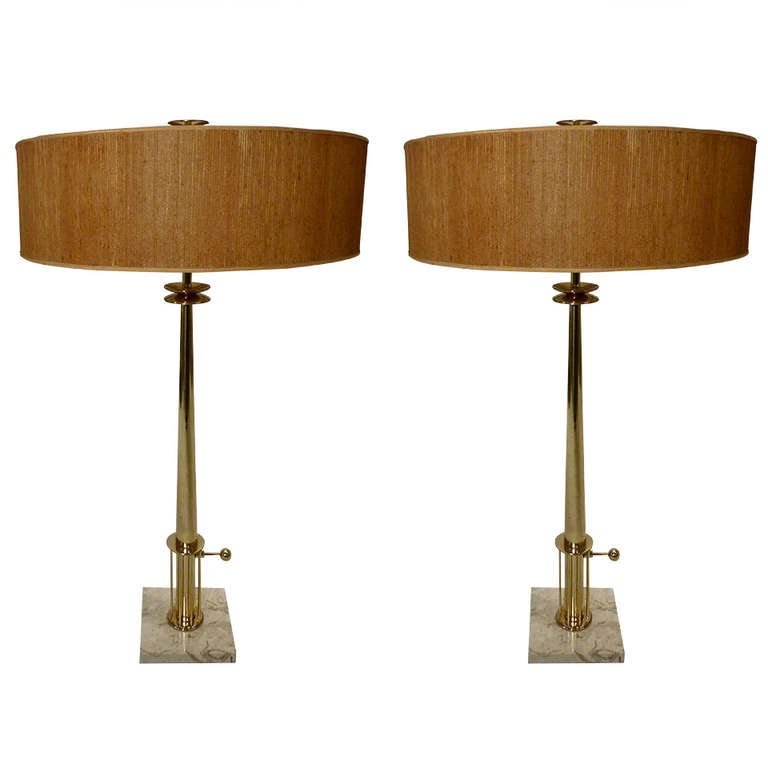 Pair Of Monumental Stiffel Candlestick Lamps At 1stdibs