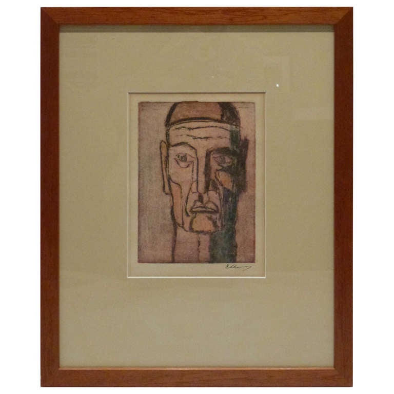 original cubist movement block print portrait at 1stdibs