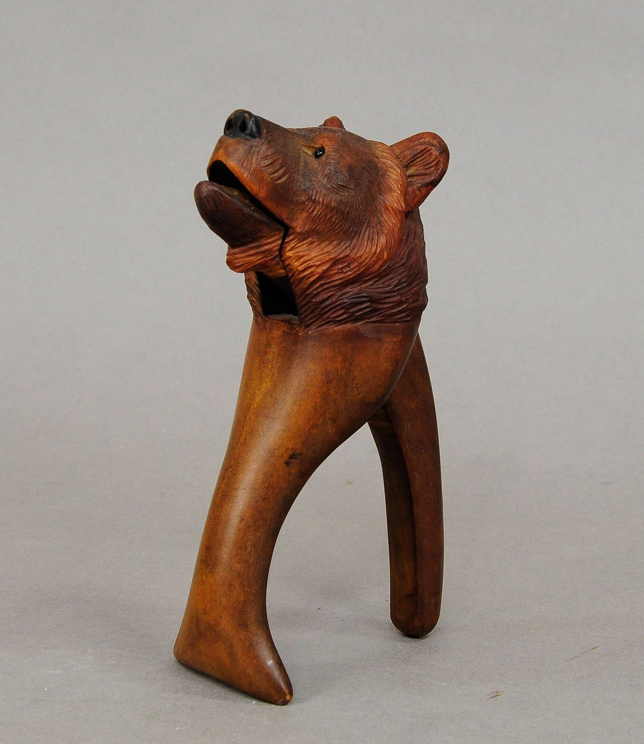 Black Forest Hand Carved Wood Bear Nutcracker For Sale At