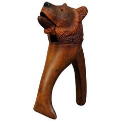 Black Forest Hand-Carved Wood Bear Nutcracker