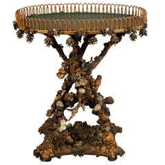 Antique Fantasy Root Wood Side Table, circa 1850