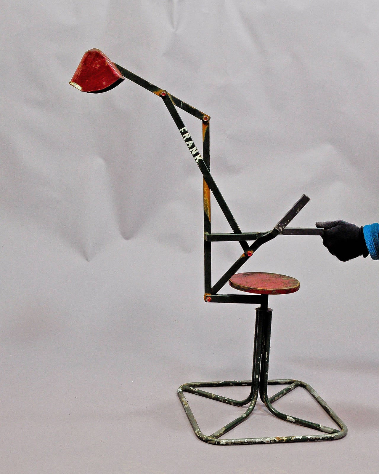 Arts and crafts metal toy seat bucket digger for sale at for Metal arts and crafts