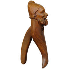 Hand-Carved Wood Dwarf Nutcracker, Brienz, 1900
