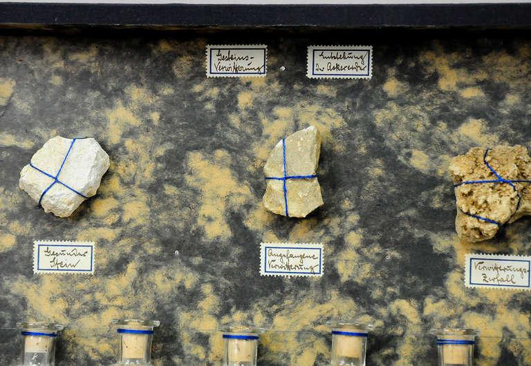 German Specimen, Decomposition of Rocks, circa 1900 For Sale