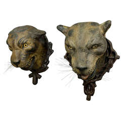 Gorgeous Pair of Leopard Heads
