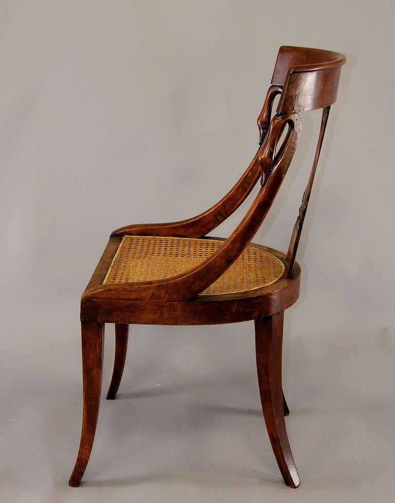 Pair of Hand Crafted Biedermeier Chairs For Sale at 1stdibs