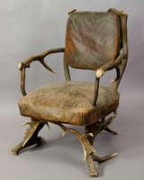 Antique Black Forest Antler Arm Chair, Austria 1890 image 2