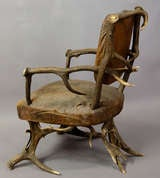 Antique Black Forest Antler Arm Chair, Austria 1890 image 4