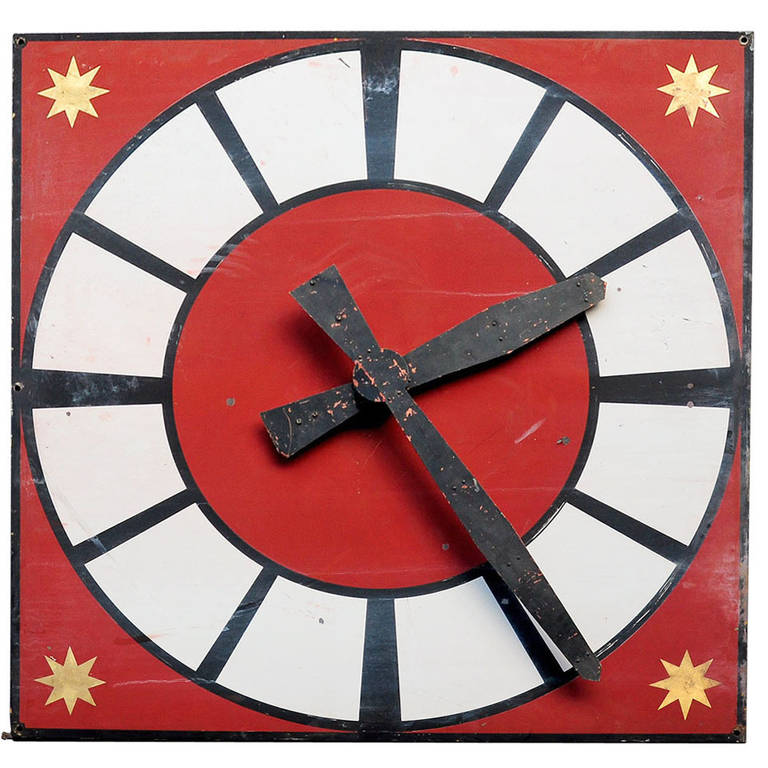Antique church clock face from germany for sale at 1stdibs for What kind of paint to use on kitchen cabinets for art deco wall clocks for sale