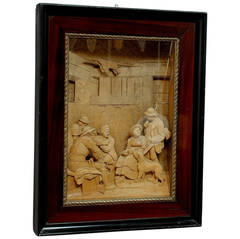 Finely Carved Wooden Diorama by Steiner Meran after Franz Defregger