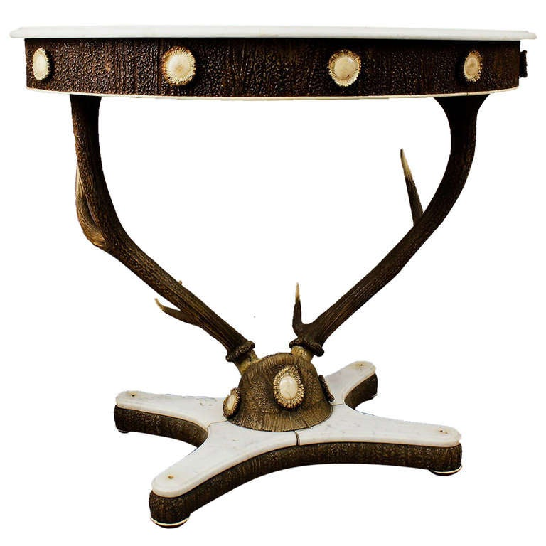 antique stag trophy antler table austria circa 1860 at 1stdibs