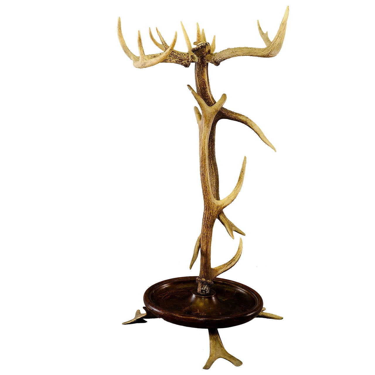 Rustic Black Forest Antler Umbrella Stand, circa 1900