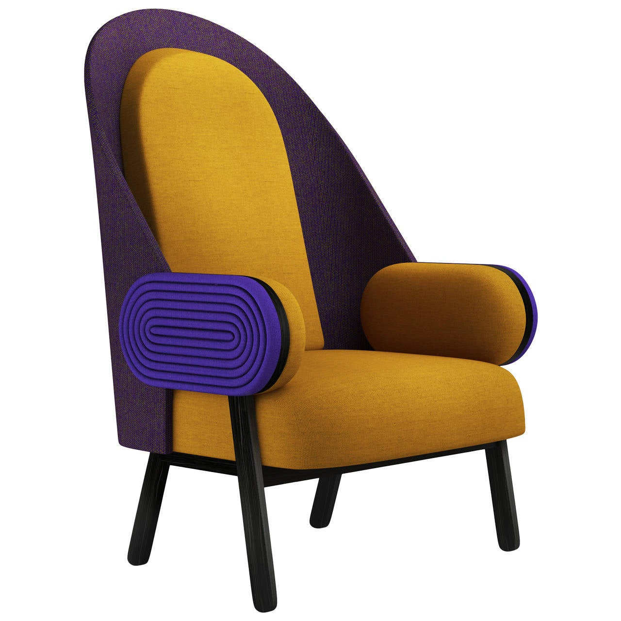 'MOON-C', Contemporary Armchair with a Vintage Twist in ...
