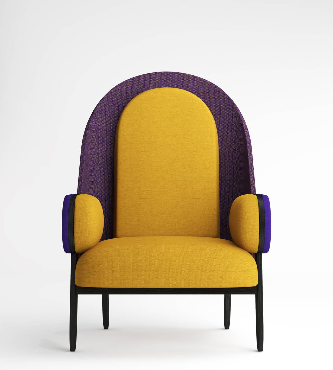French 'MOON-C', Contemporary Armchair with a Vintage Twist in Limited Edition For Sale