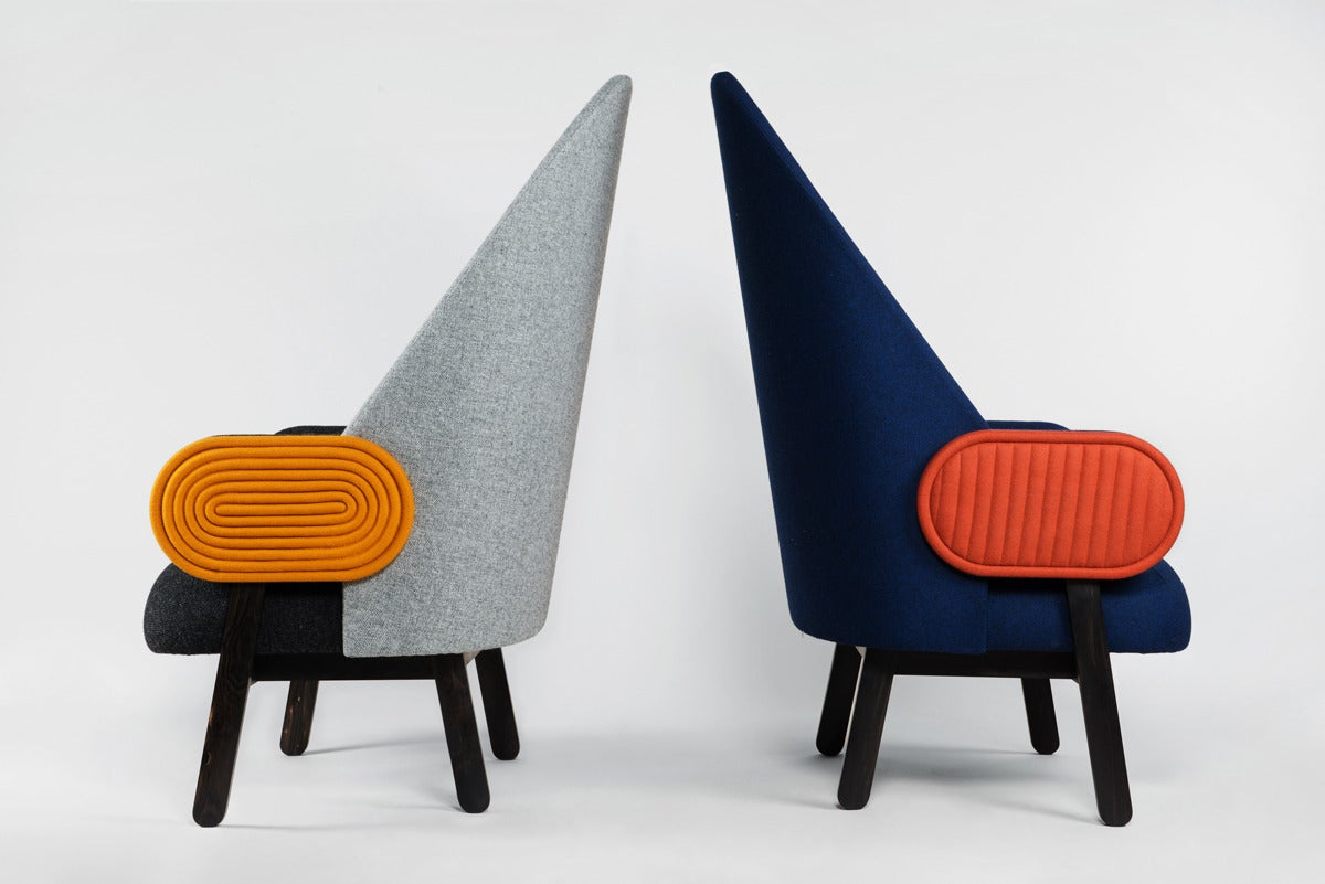 'MOON-C', Contemporary Armchair with a Vintage Twist in Limited Edition For Sale 1