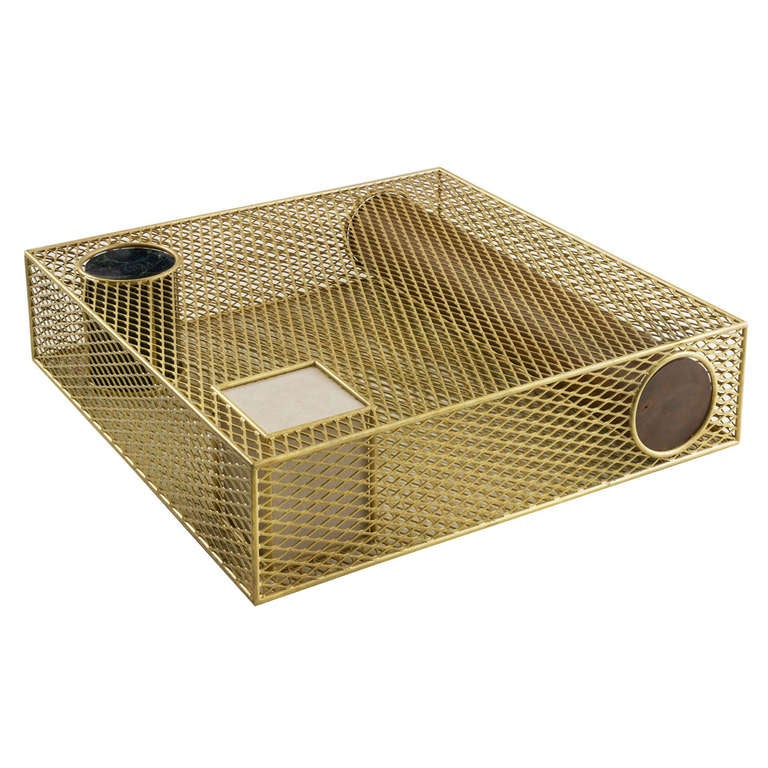 'Caged Elements' Table, a Sophisticated Design by Faye Toogood - In Stock