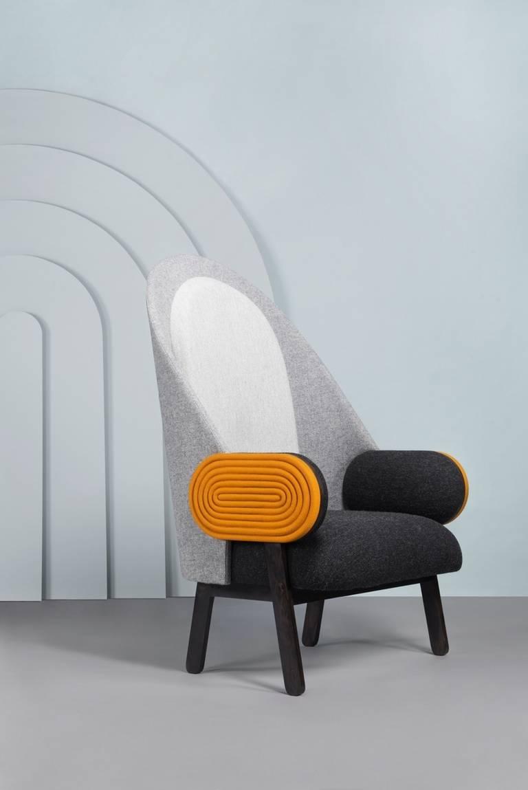 Ebony Collectible Design U0027Moonu0027 Armchair, A Contemporary Piece With A  Vintage Twist For