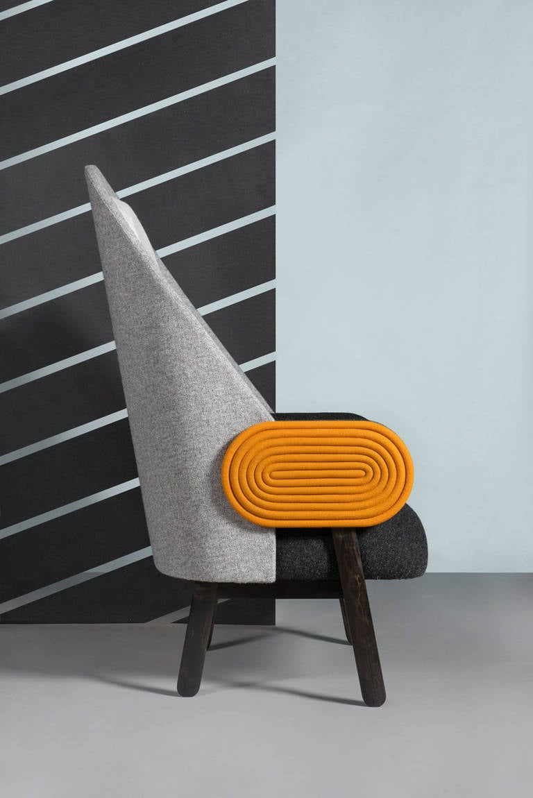 Collectible Design 'Moon' Armchair, a Contemporary Piece with a Vintage Twist For Sale 1