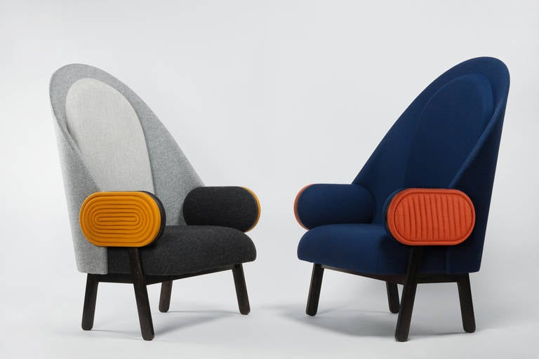 Collectible Design 'Moon' Armchair, a Contemporary Piece with a Vintage Twist For Sale 2