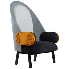 Collectible Design 'Moon' Armchair, a Contemporary Piece with a Vintage Twist