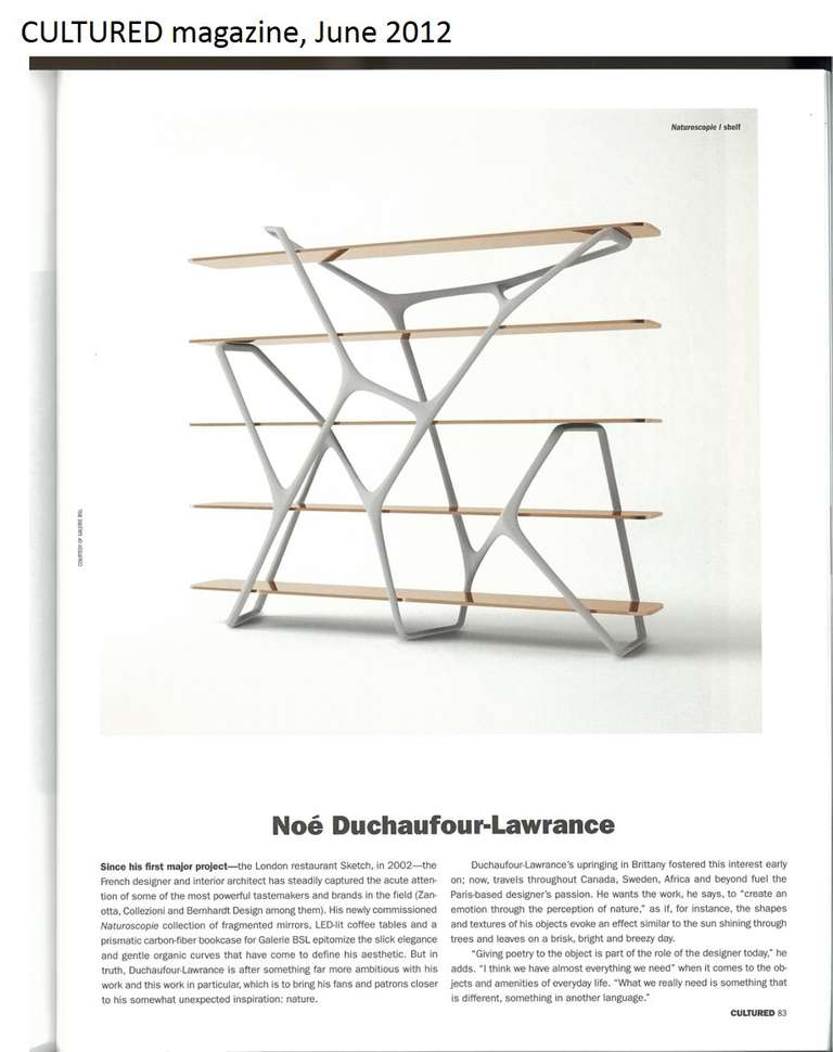 'Naturoscopie I,' Organic Bookcase and Room Divider by Noé Duchaufour-Lawrance 9