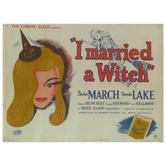 """I Married a Witch,"" British Film Poster"