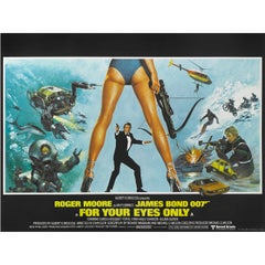 """For Your Eyes Only"" Original British Movie Poster"